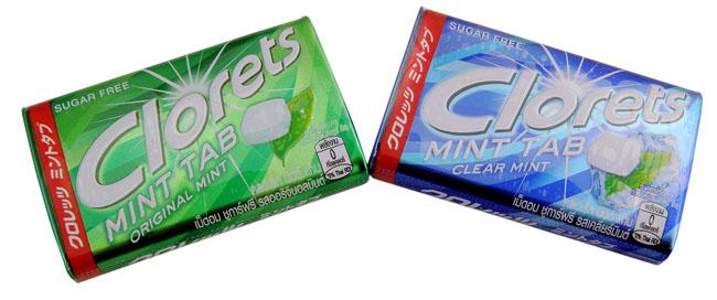 19-20. CLORETS MINT SUGAR-FREE TABLETS 18 G.
