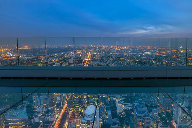 Glass Tray - Night View - 78th Floor